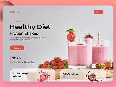 Diet Recipes Web Design website web typography ux ui design
