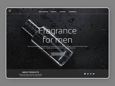 Perfumes Web Design online new flat website web typography ux ui design