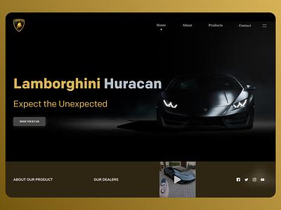 Cars Landing Page branding art online new website web typography ux ui design