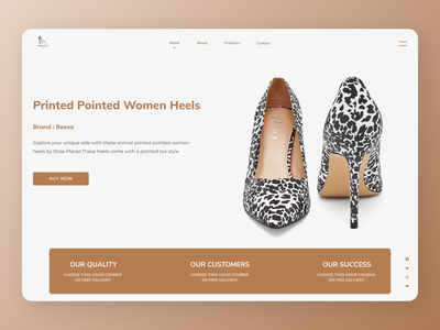 Branded Shoes  Landing Page branding minimal online new website web typography ux ui design