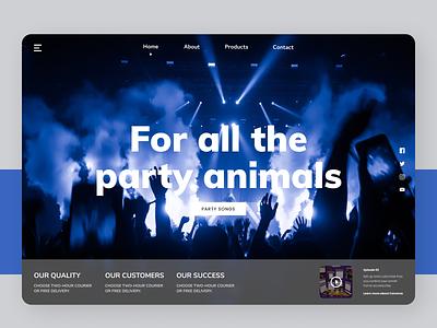 Party Schedule typography flat branding online new website web design ux ui