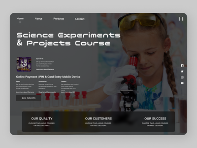 Science and technology branding minimal online new website web design typography ux ui