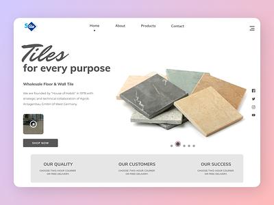 Tiles uiux deisgner new designs web minimal branding ux ui design