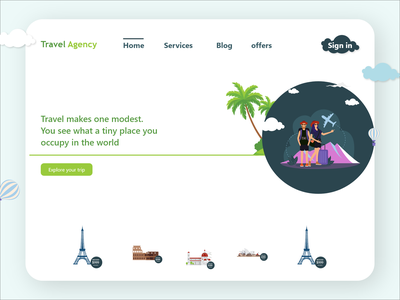 Travel Agency ui travel agency travelling ui traveling travel webdesign website creative morden landing page adobe xd ux xd ui xd design ui design clean