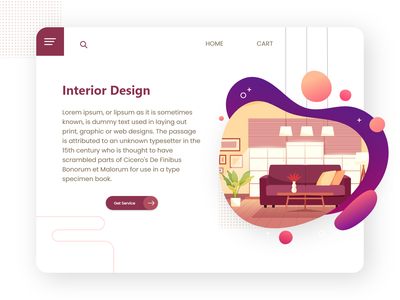 Interior Design Ui stylish modern adobe xd xd xd design ux design ui design landing page landing website web design creative ui interior design