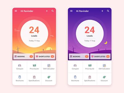 App Design - UI/UX color icons background vector ux ui concept app