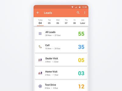 App Design - UI/UX color cards mobile icons concept listing ux ui app