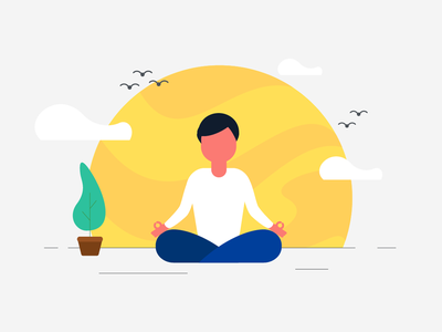 Yoga Illustration sketch ui graphics character men yoga vector illustration