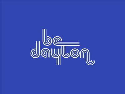 be dayton logo design logo speakeasy minimalis line weight monoline custom typography custom type lettering design tshirt merch ohio dayton logotype