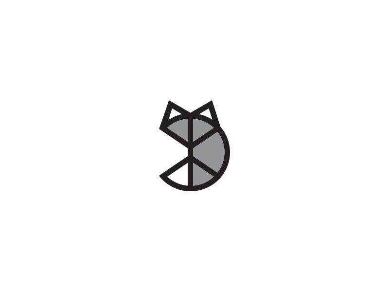 silver fox logo by paperreka dribbble