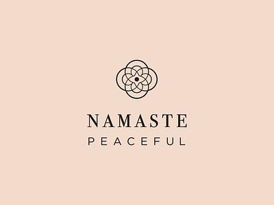 namaste peaceful yoga studio logo cirles pink blush peaceful third eye dove zen circles namaste yoga