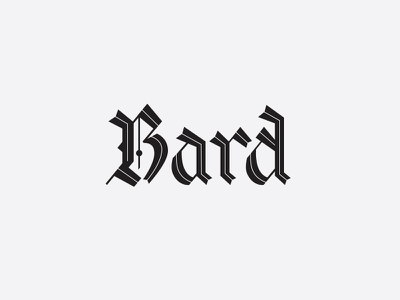 Bard - graveyard custom logo type custom typography bard calligraphy inline script blackletter custom lettering lettering logo