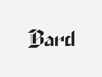 bard media final logo typography lettering logo branding b blackletter custom typography logotype media bard