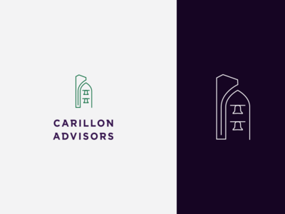 carillon logo graveyard icon logomark brand design branding typography logo design tower bells carillon logo