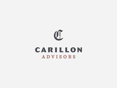 carillon advisors final logo logo design branding brand identity brand logotype logomark c blackletter advisor bells carillon