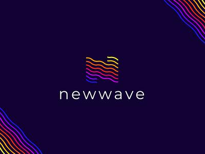 New Wave / Letter - N Modern Logo Design type wave logo n logo ocean logo new wave n letter logo modern lettermark logo logodesign vector branding waves flow water ocean n letter wave monogram