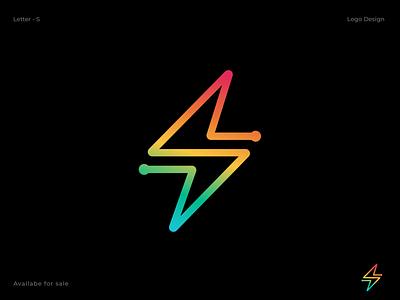 Volt & S Letter Combination Logo Design abstract creative logotype letter s business logo website logo tech logo gradient 3d letter logo concept app logo design mark app logo agency satrtup branding monogram