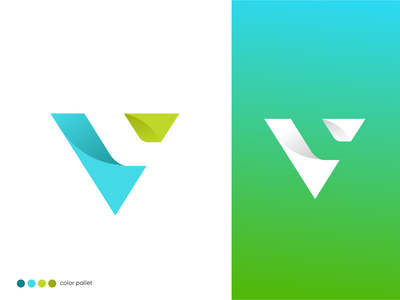 V + L / Letter Commination Logo Design branding logotype business logo v icon gradient logo digital agency corporateidentity colorful corporate logo vl logo logo v lettermark v logo design abstract leaf v logo vest logo app logo icon app logo v logo