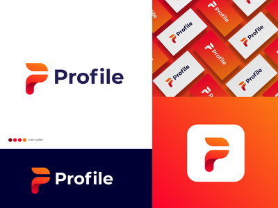 Profile - Logo Design company branding corporate logo company logo p mark logo p lettermark pf logo p logo gradient mark logotype modern icon lettermark logo abstract monogram branding profile - logo design profile - logo design