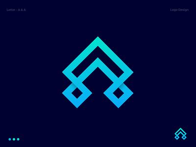 A  & A Combination Logo Design letter logo modern letter a logo branding letter mark logo design aa letter aa logo abstract logo logotype creative icon vector lettermark logo monogram abstract branding