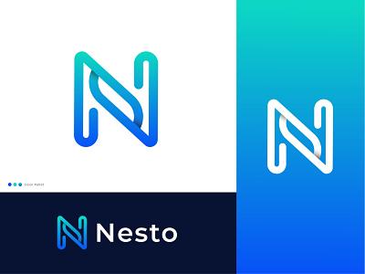 Nesto / N Logo ready made logo app logo brand identity logo designer n letter mark best logo designer in dribbble icon logo designs logo design n letter nlogo n logotype modern logodesign lettermark logo vector monogram abstract