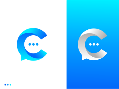 Chat C Letter Logo Design letter mark logo c logo branding symbol identity message chat chat app connection conversation gradient talk conversational startup logo