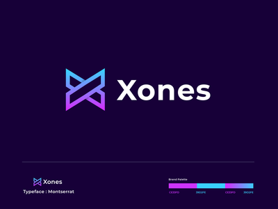 Xones - logo design clean gradient x logo x letter x modern creative logotype logodesign icon logo lettermark monogram abstract branding