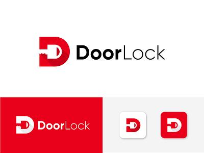 Door - D + Key Logo Concept company logo business logo modern logo letter mark logo d logo key logo door lock logo graphic design 3d animation ui illustration design logo icon vector lettermark monogram abstract branding