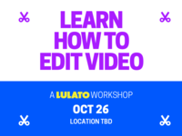 Edit Video Workshop Poster WIP