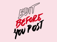 Edit Before You Post Handtype