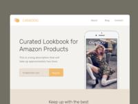 Cataloog Landing Page