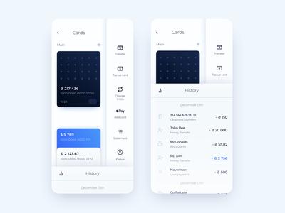 Bank App Concept Neumorphic