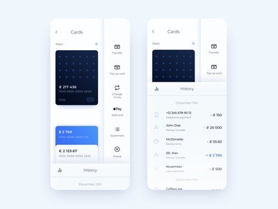 Bank App Concept Neumorphic bank card white soft ui neumorphism neumorphic ui black banking bank payment blue app minimal ui  ux