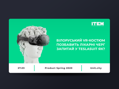 IT-Conference ad - David colorful color white object item fest conference vr antique sculpture green minimal