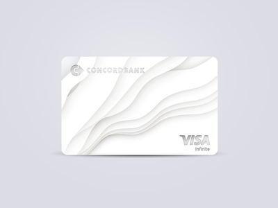 Infinite Credit Card silver minimalistic minimalism minimalist card design credit card creditcard finance bank grey soft white branding minimal