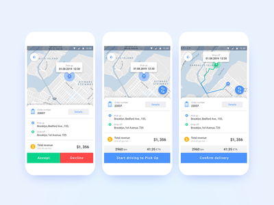 Delivery app navigation package mobile android app design android app android figma figmadesign post logistics delivery ui  ux