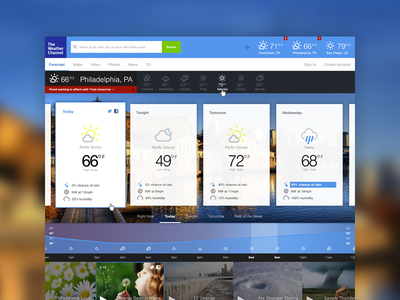 Weather Channel – Redesign WIP 2 (@2x) ui web design weather icons flat clean weather.com wip