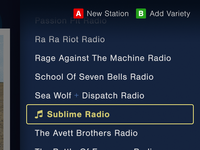 Radio Station Menu – Pandora for Smart TVs (@2x + Full Pixels)