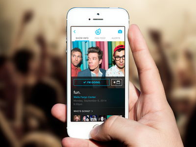 Decibly – Show Info (@2x) ui concept mobile iphone app concert music fan artists labels