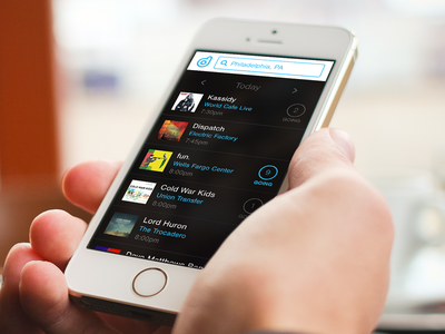 Decibly – Search (@2x) ui concept mobile iphone app concert music fan artists labels