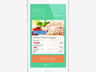 Nutrition App ui concept mobile iphone app nutrition health