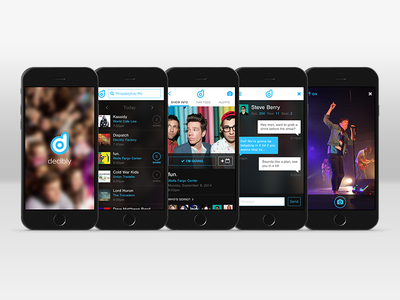 Decibly ui concept mobile iphone app concert music fan artists labels