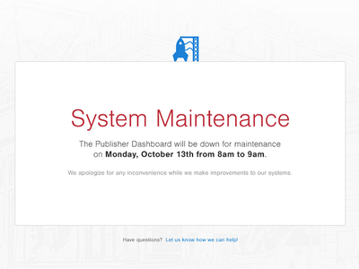 System Maintenance ui maintenance system