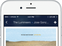 Pandora for iOS by Drew Christiano on Dribbble