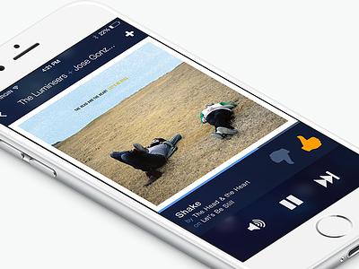 Pandora for iOS ui mobile ios iphone pandora music player spotify