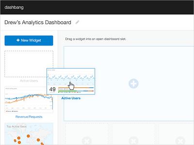 Drag & Drop ui dashboard analytics data hackathon widget