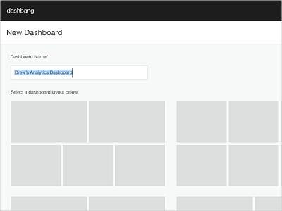 New Dashboard ui dashboard analytics data hackathon widget