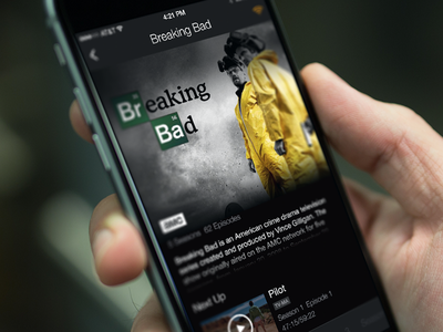 Breaking Bad ui concept mobile iphone app media streaming tv
