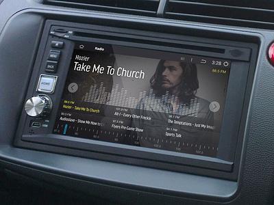 Android In-Car Radio UI ui dashboard radio car smart hozier music audio android google