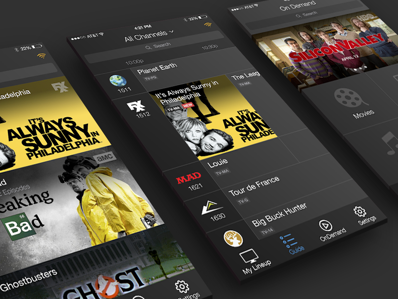 Mobile TV App ui concept mobile iphone app media streaming tv